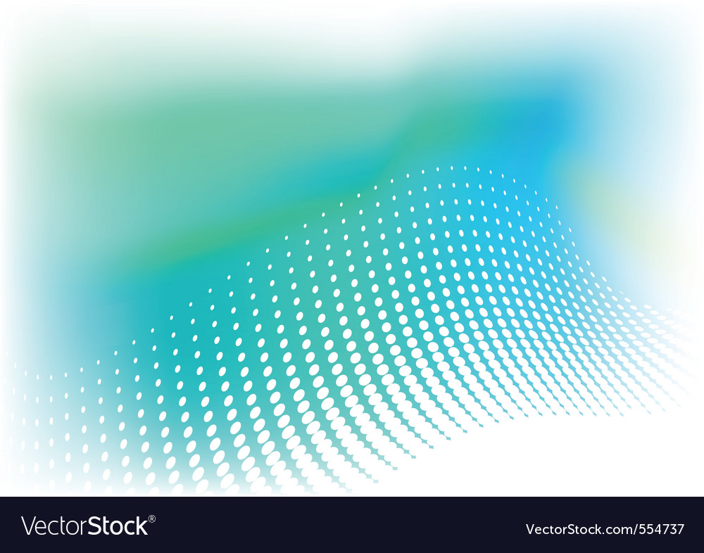 Green and blue background with halftone vector | Price: 1 Credit (USD $1)