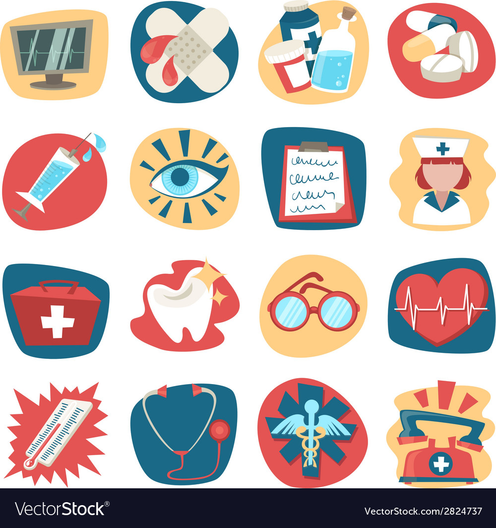 Hospital icons set vector | Price: 1 Credit (USD $1)