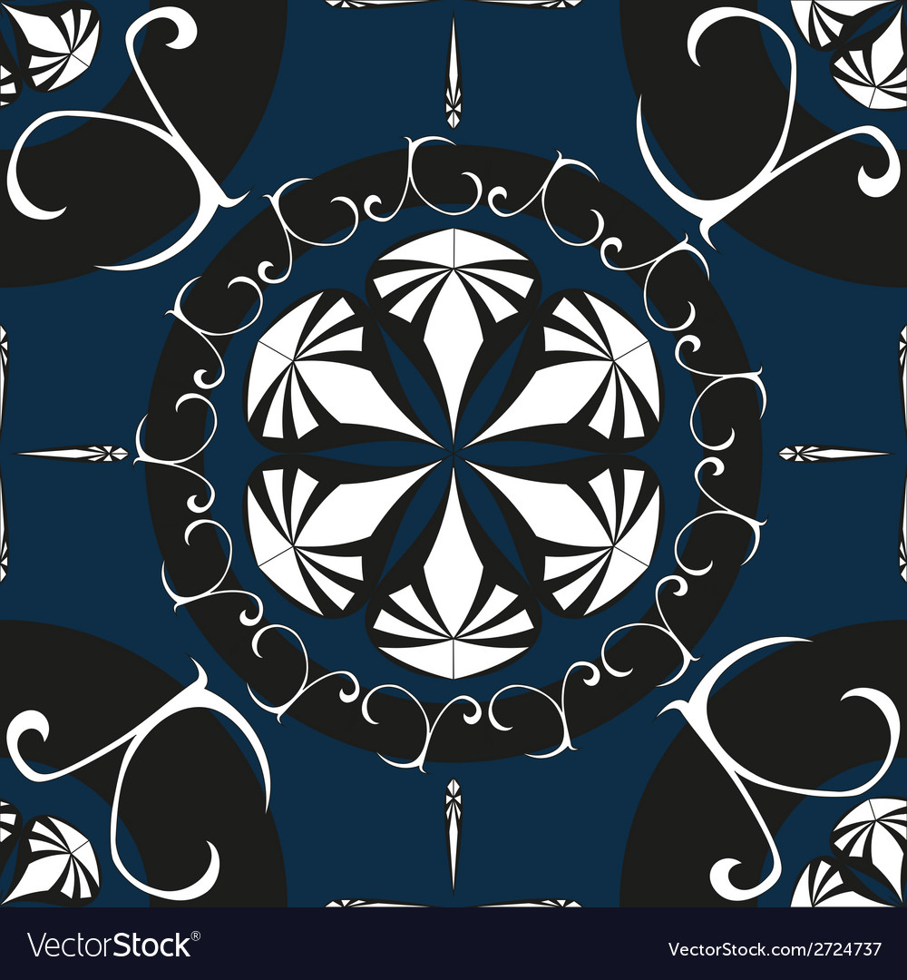 Intricate ornate seamless pattern vector | Price: 1 Credit (USD $1)