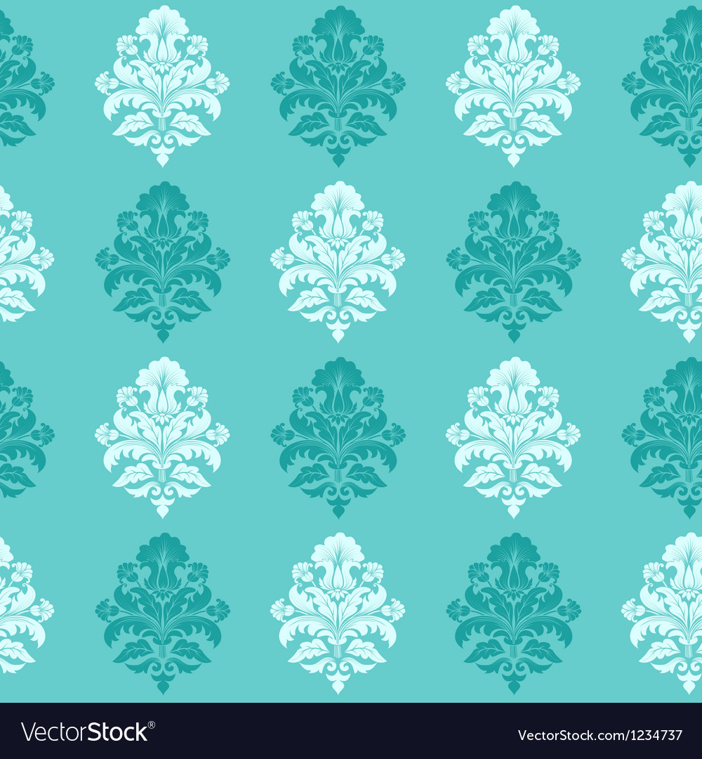 Modern floral damask pattern vector | Price: 1 Credit (USD $1)