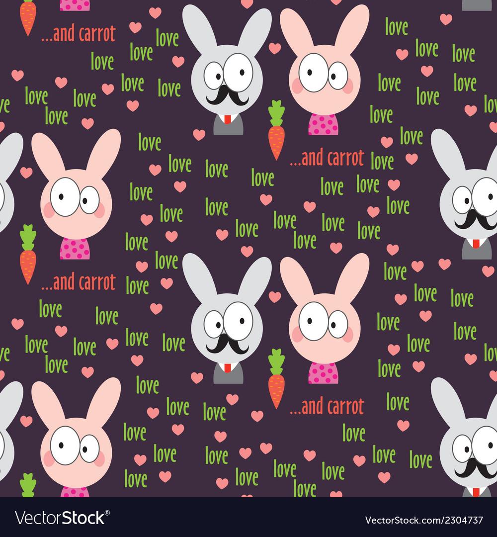 Rabbit pattern vector | Price: 1 Credit (USD $1)