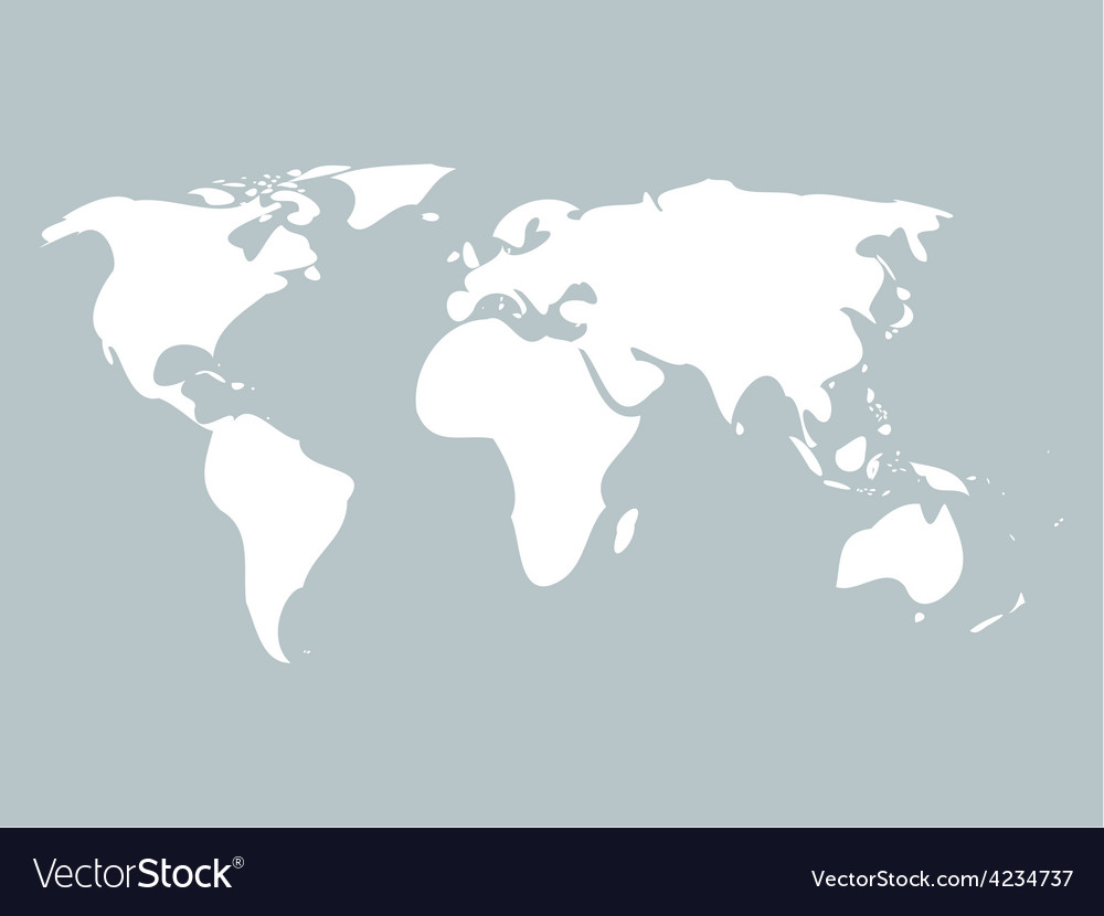Simplified world map vector | Price: 1 Credit (USD $1)
