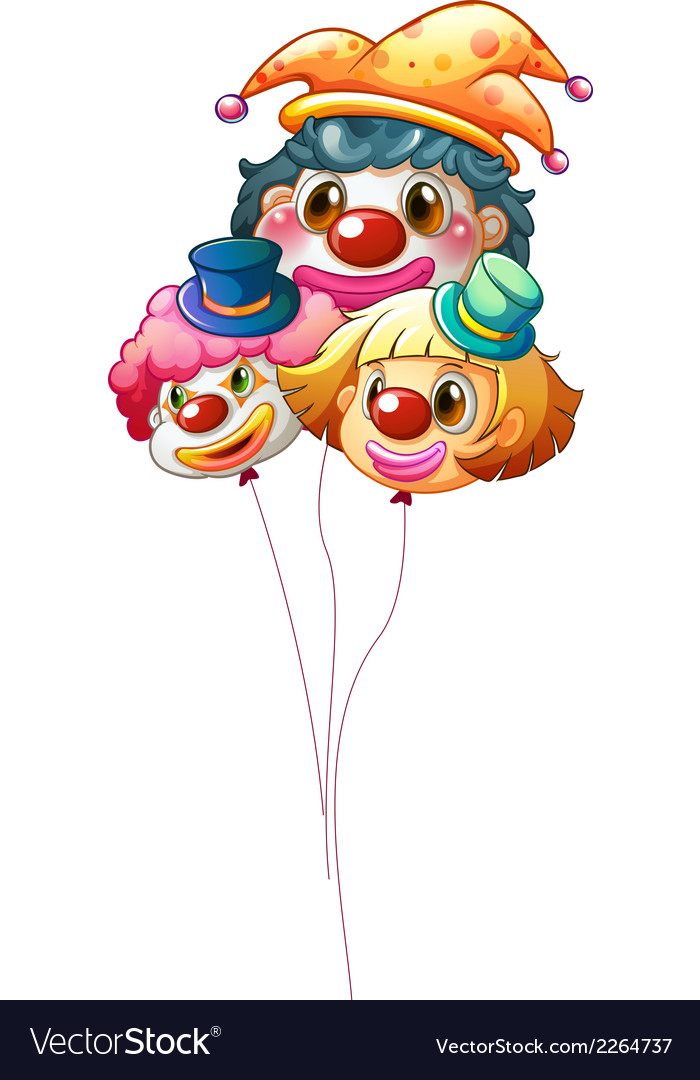 Three clown balloons vector | Price: 1 Credit (USD $1)