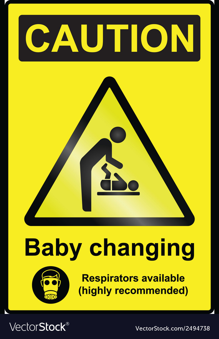 Baby changing hazard sign vector | Price: 1 Credit (USD $1)
