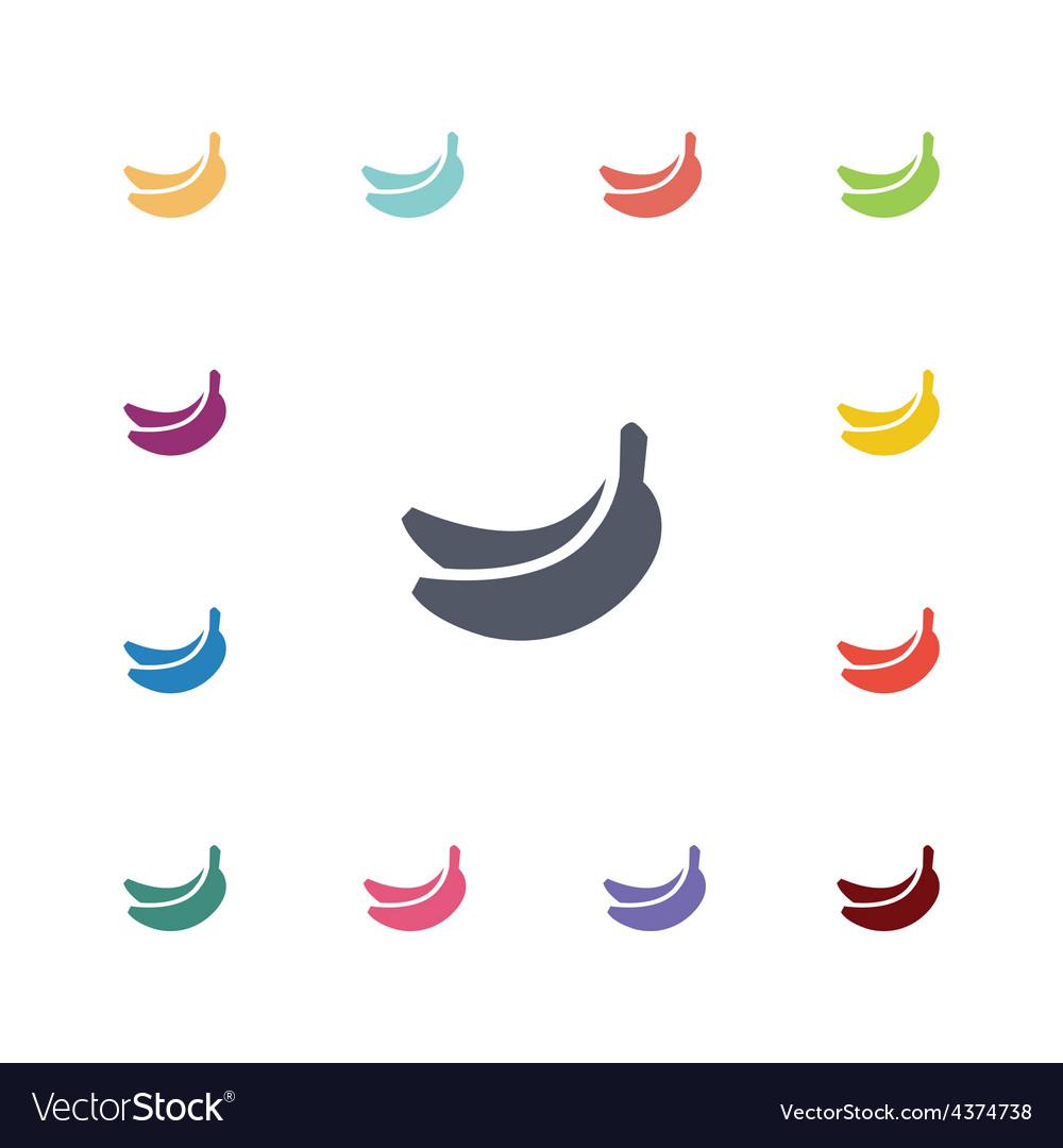 Banana flat icons set vector | Price: 1 Credit (USD $1)