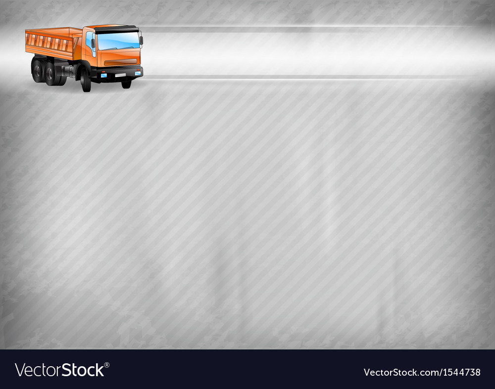 Construction background truck vector | Price: 1 Credit (USD $1)