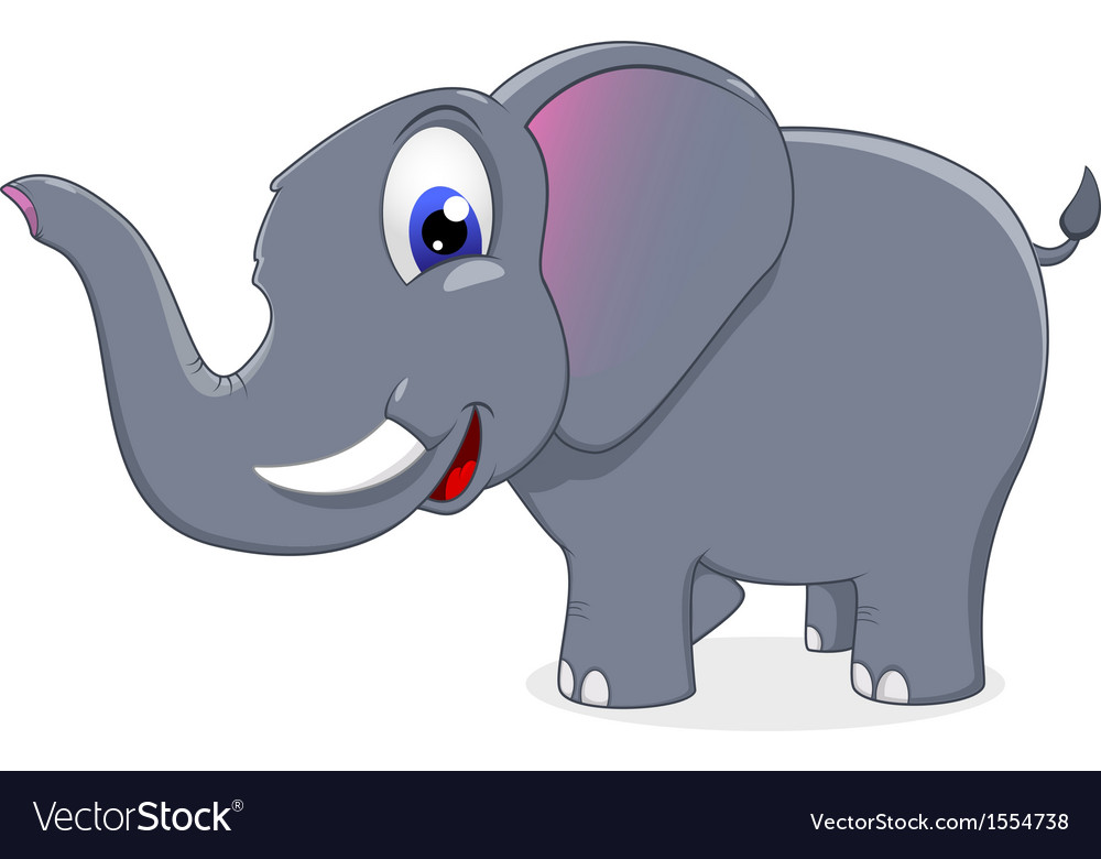 Cute elephant standing vector | Price: 1 Credit (USD $1)