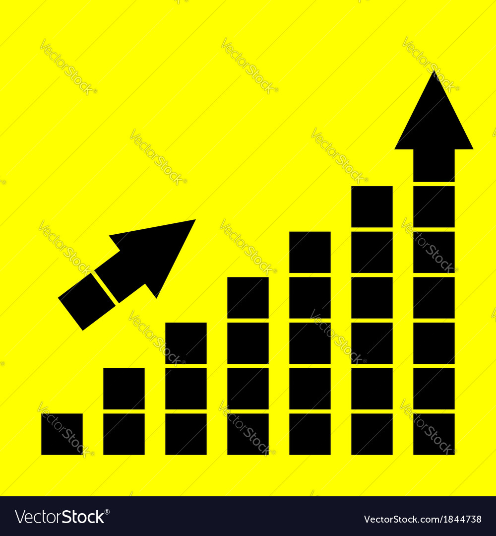 Icon growth chart vector | Price: 1 Credit (USD $1)