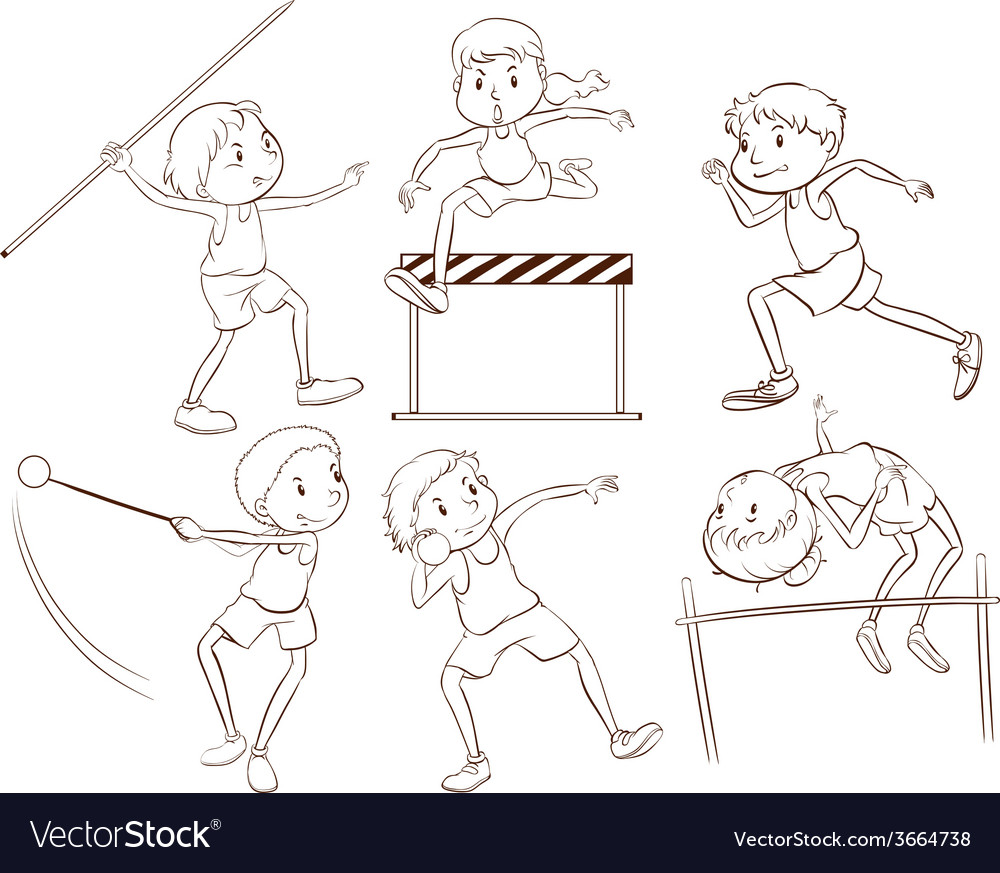 Kids doing outdoor activities vector | Price: 1 Credit (USD $1)