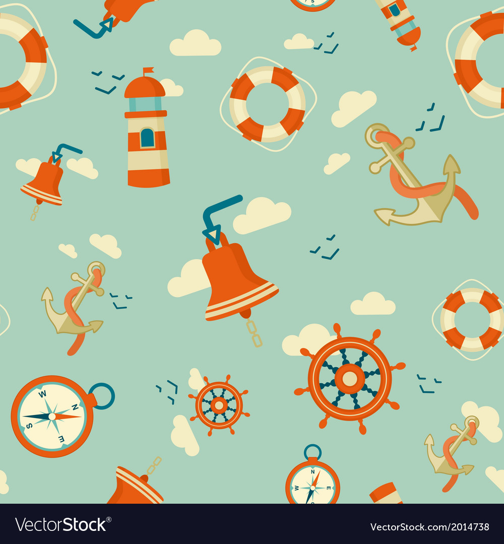 Maritime pattern vector | Price: 1 Credit (USD $1)
