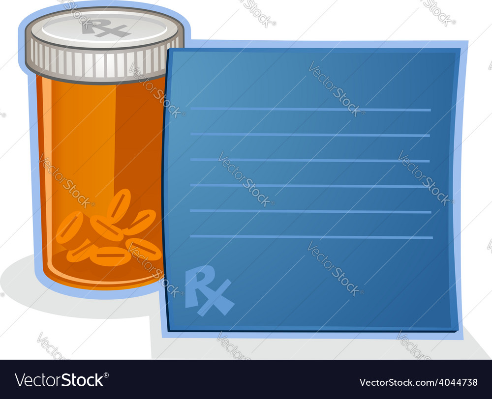 Prescription drug pill bottle cartoon vector | Price: 3 Credit (USD $3)