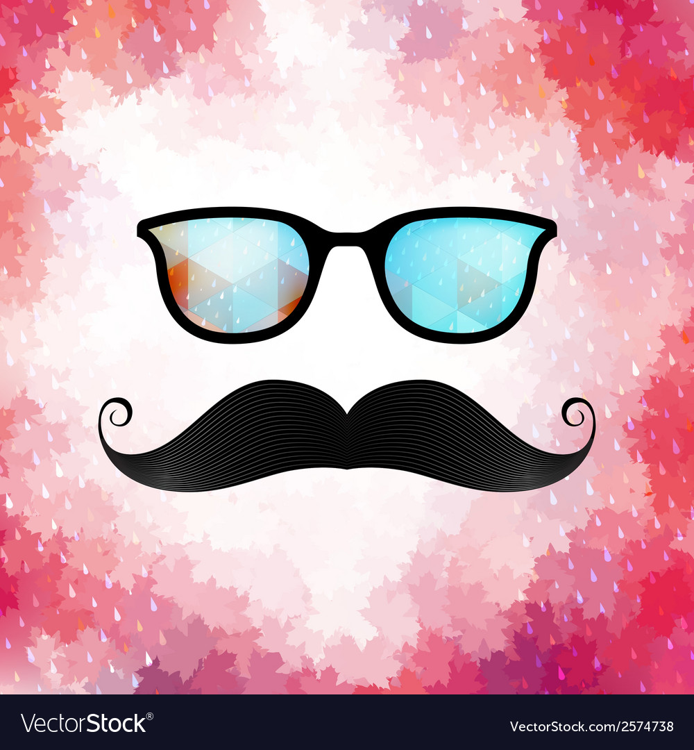 Retro glasses with reflection eps 10 vector | Price: 1 Credit (USD $1)