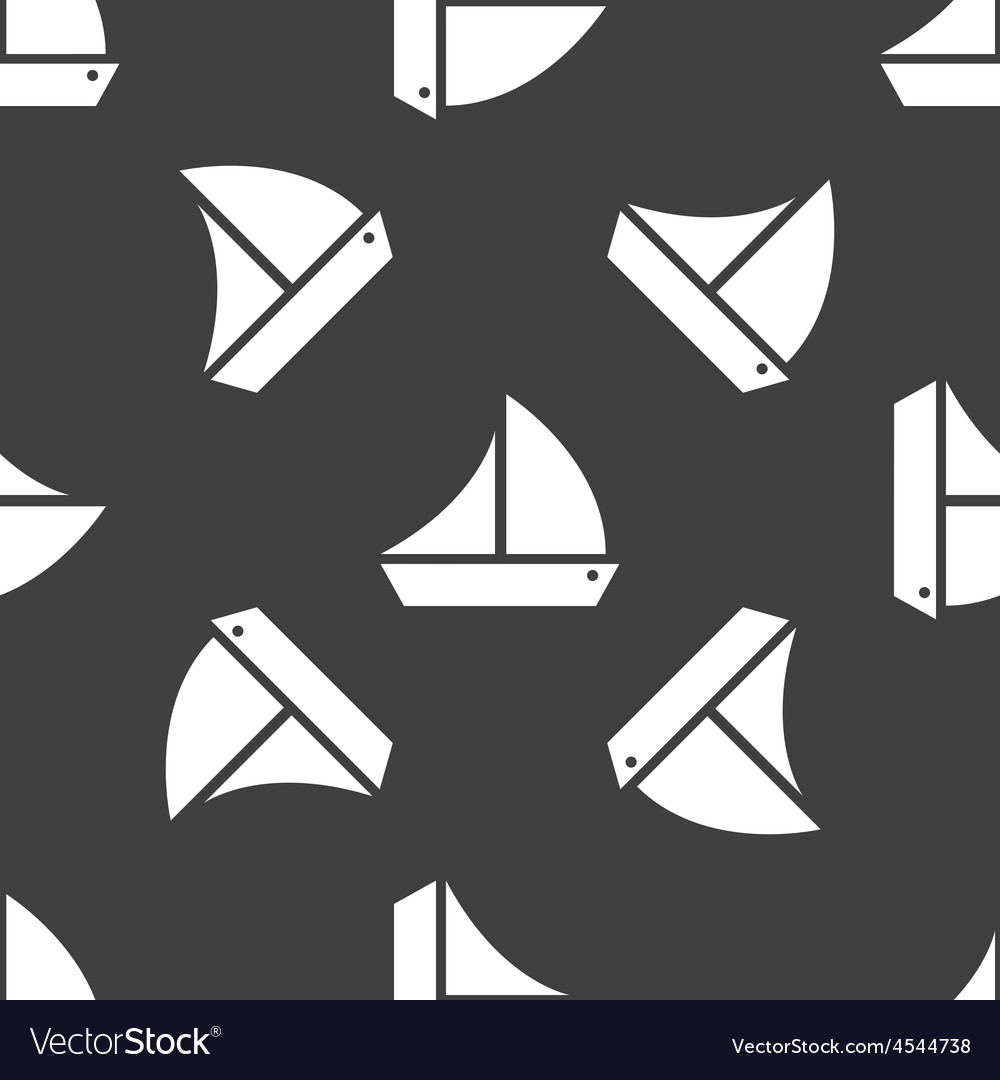 Sailing ship pattern vector | Price: 1 Credit (USD $1)