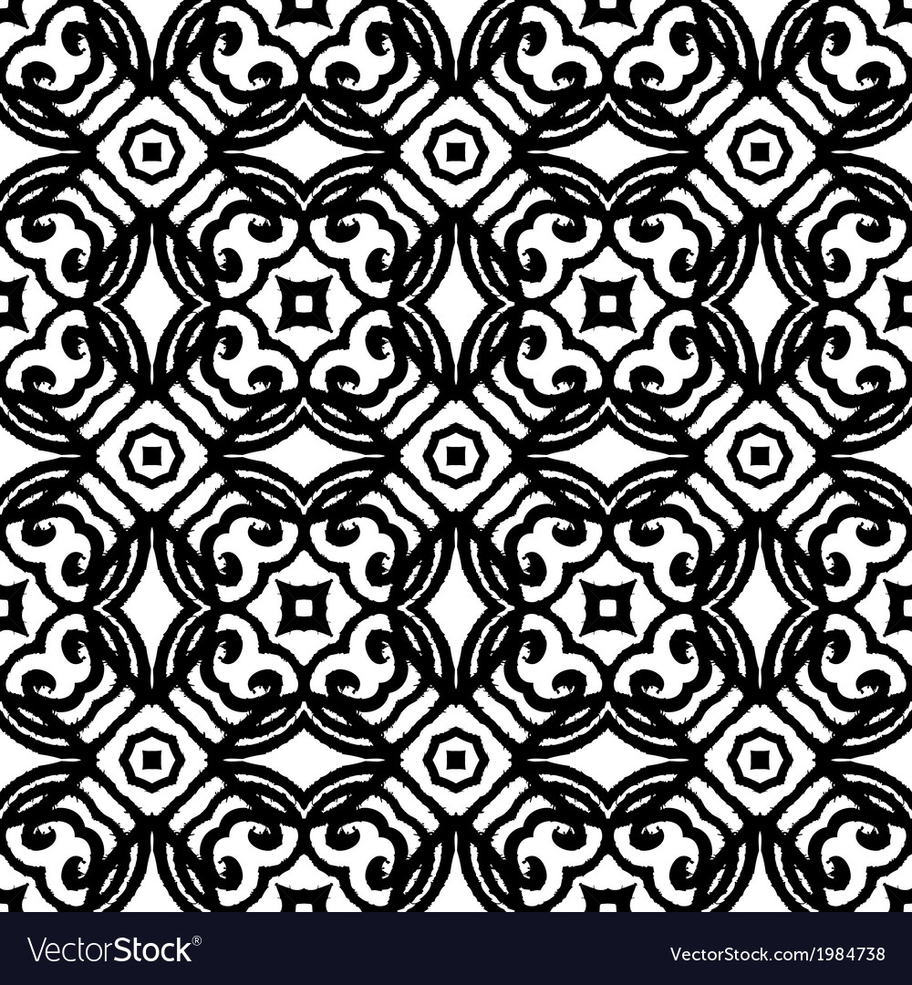 Vintage art deco pattern in black and white vector | Price: 1 Credit (USD $1)