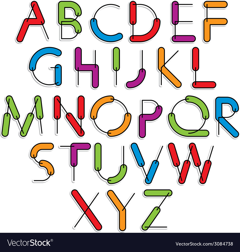 Weird constructor font alphabet letters vector | Price: 1 Credit (USD $1)