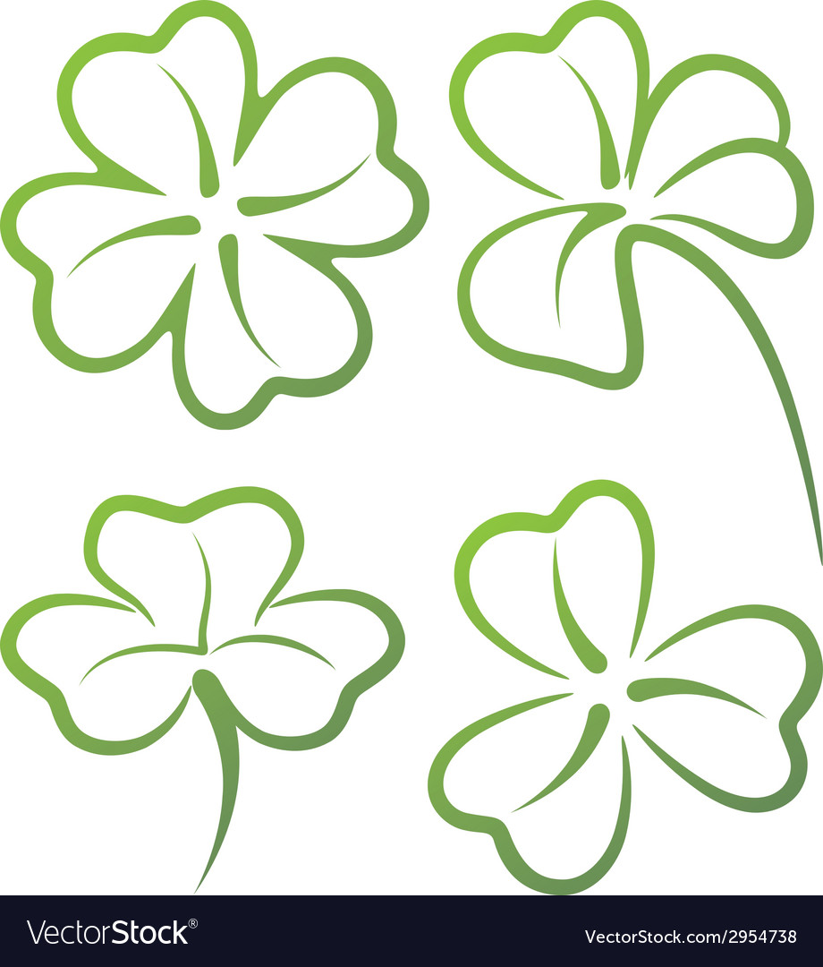 With a set of clover leaves vector | Price: 1 Credit (USD $1)