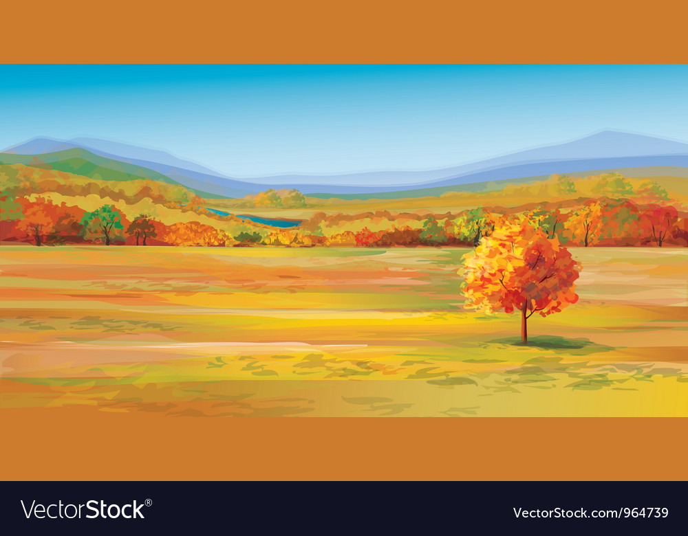 Autumn landscape vector | Price: 5 Credit (USD $5)