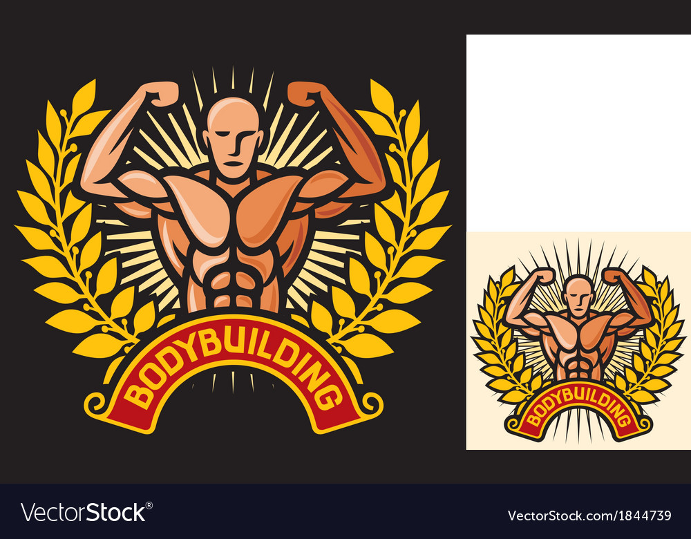 Bodybuilding badge vector | Price: 1 Credit (USD $1)