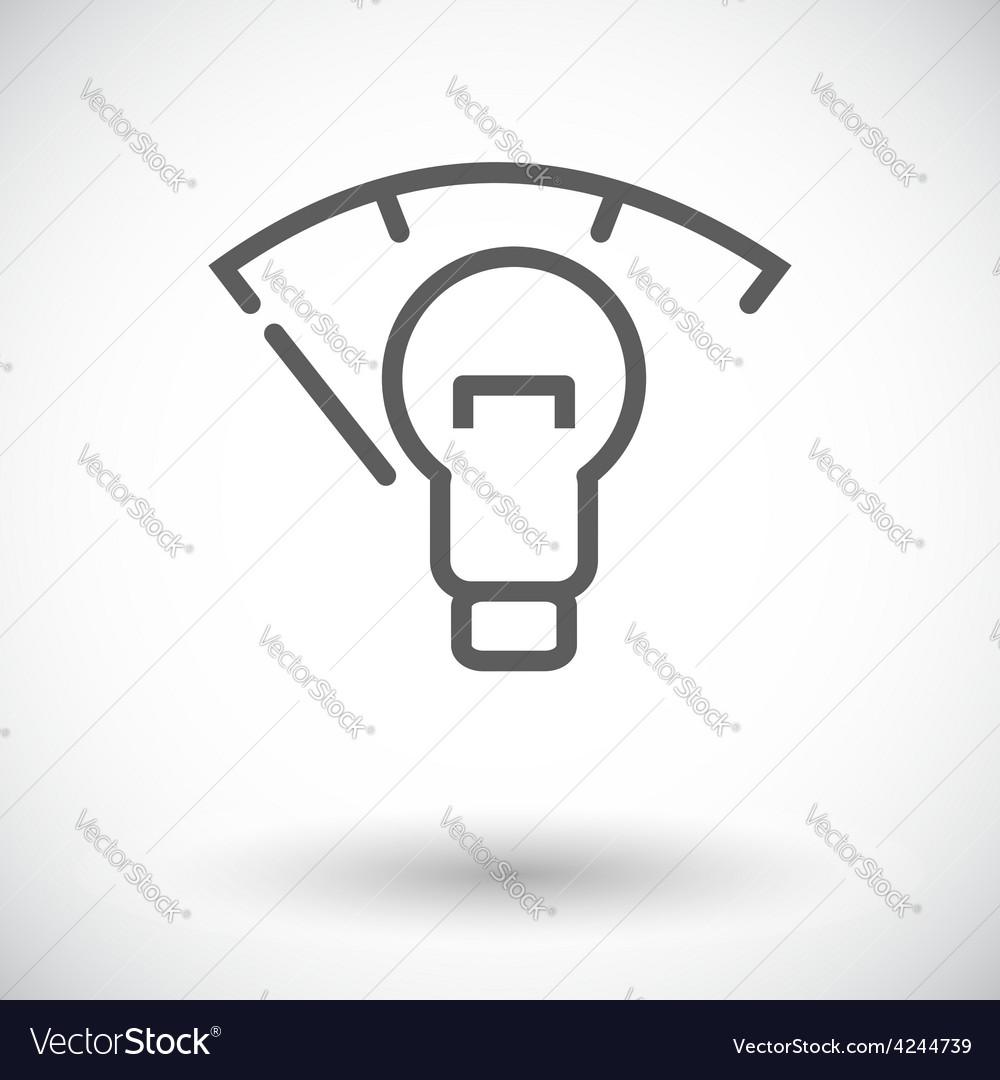 Car panel illumination vector | Price: 1 Credit (USD $1)