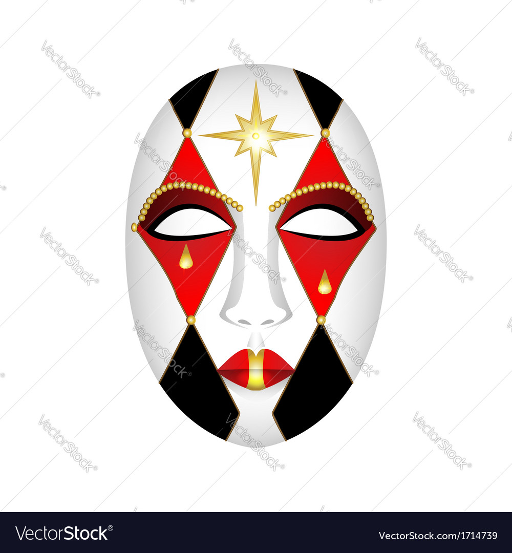 Carnival mask on a white background vector | Price: 1 Credit (USD $1)