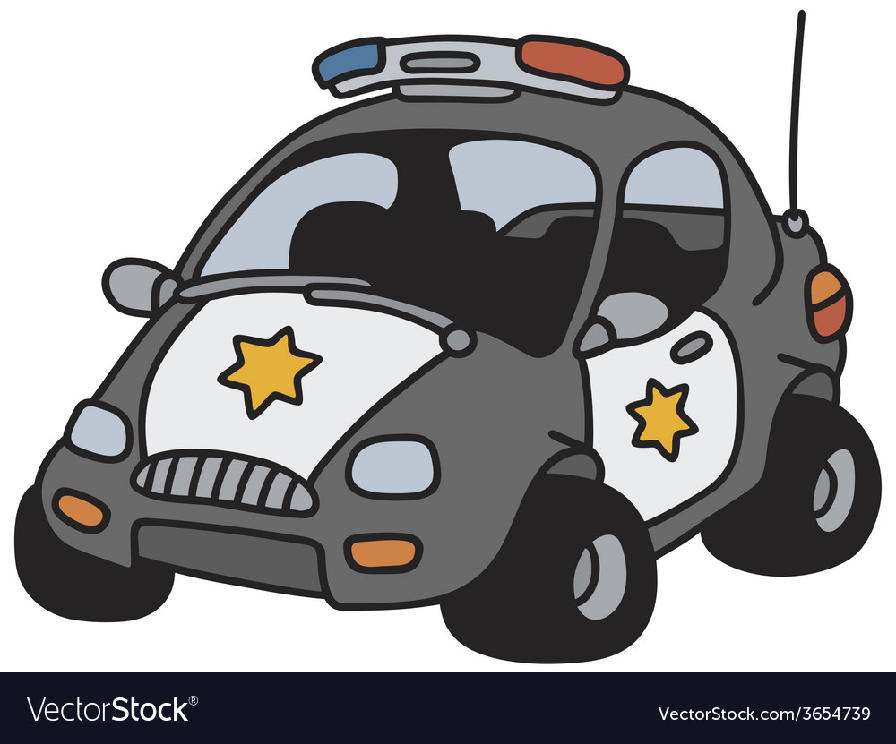 Funny police car vector | Price: 1 Credit (USD $1)