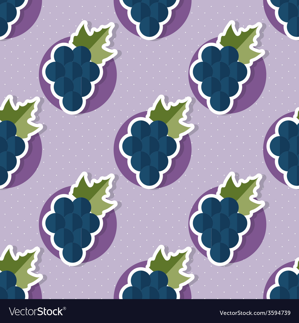Grape pattern seamless texture with ripe grape vector   Price: 1 Credit (USD $1)