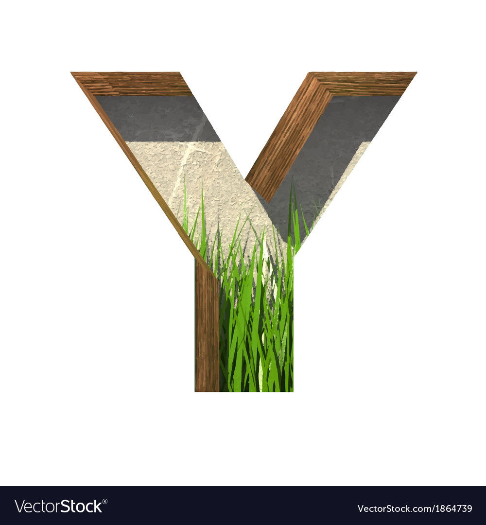 Grass cutted figure y paste to any background vector | Price: 1 Credit (USD $1)