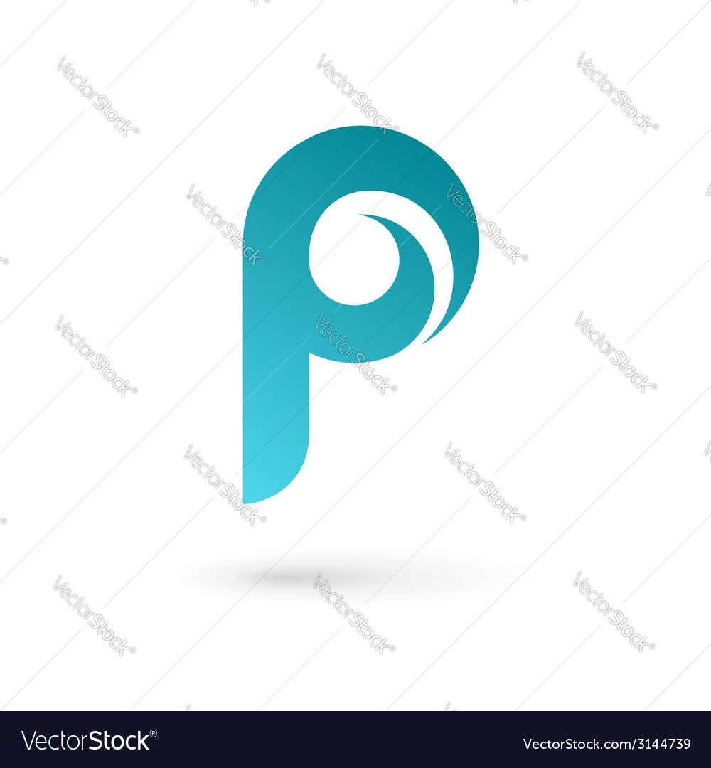 Letter p logo icon design template elements vector | Price: 1 Credit (USD $1)