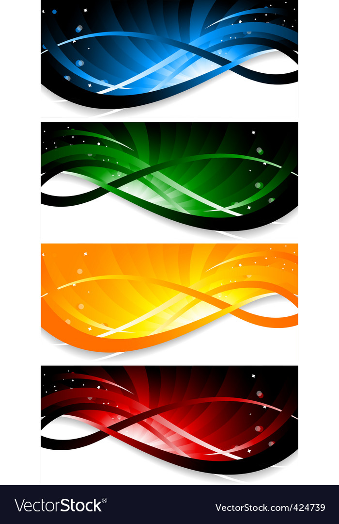 set of colorful banner vector | Price: 1 Credit (USD $1)