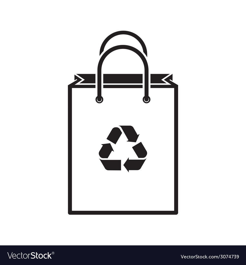 Shopping bag silhouette vector | Price: 1 Credit (USD $1)