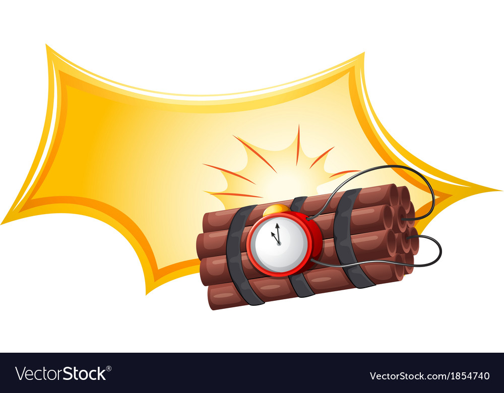 A bomb with a timer vector | Price: 1 Credit (USD $1)