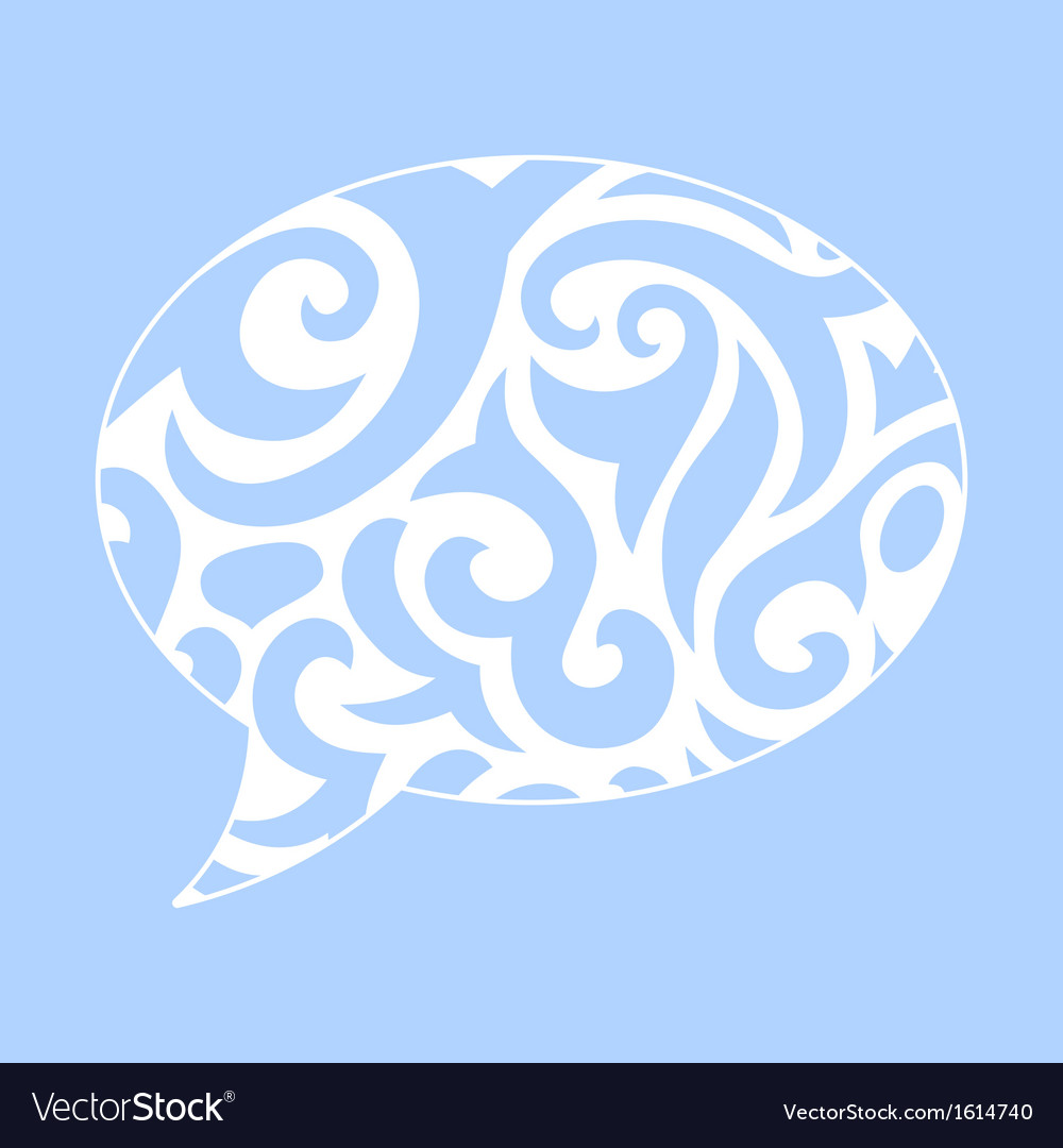 Abstract of ornamental speech bubble vector | Price: 1 Credit (USD $1)