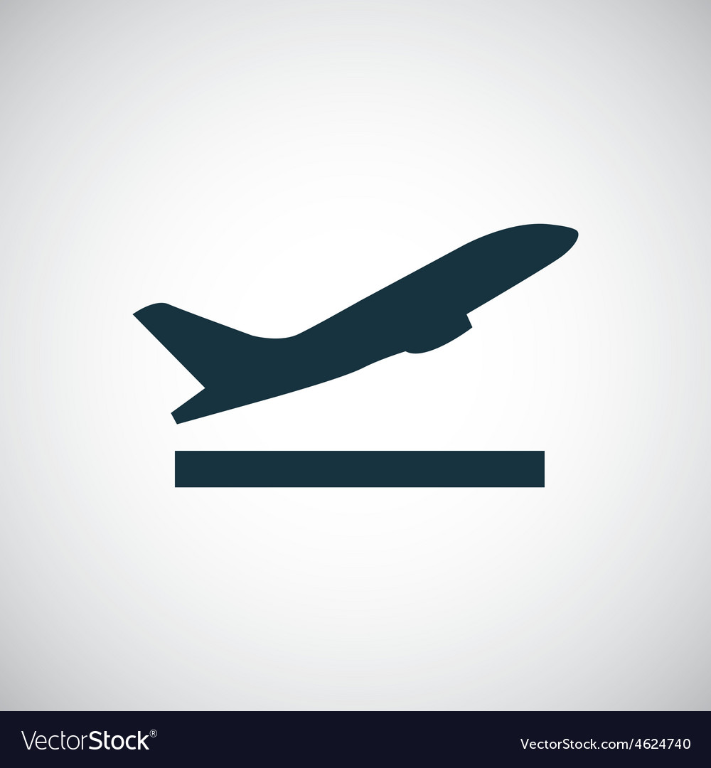 Airplane up icon vector