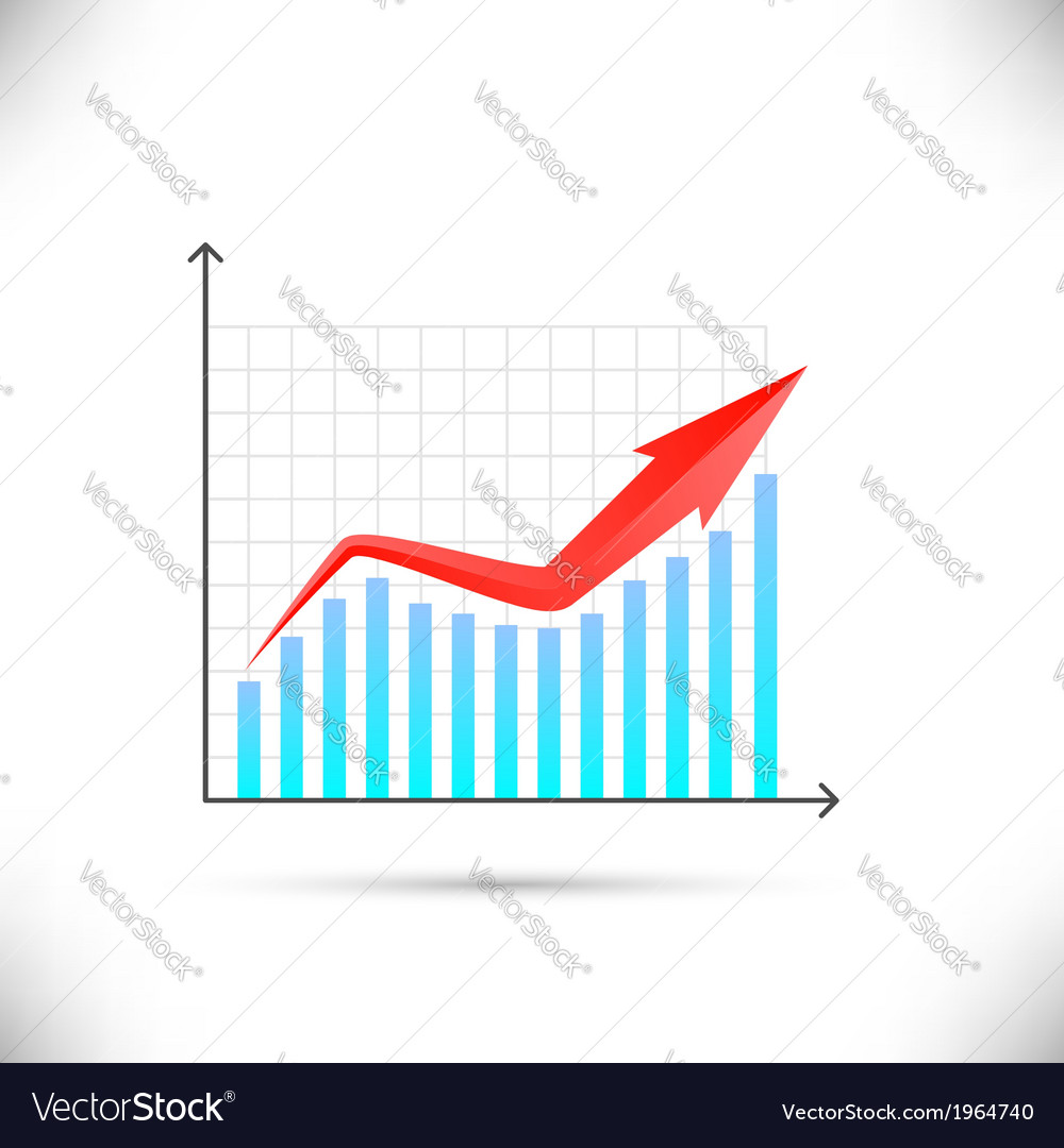 Business graph showing growth concept vector | Price: 1 Credit (USD $1)