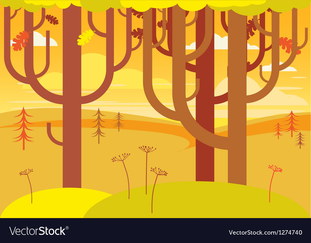 Fantasy autumn landscape vector | Price: 1 Credit (USD $1)