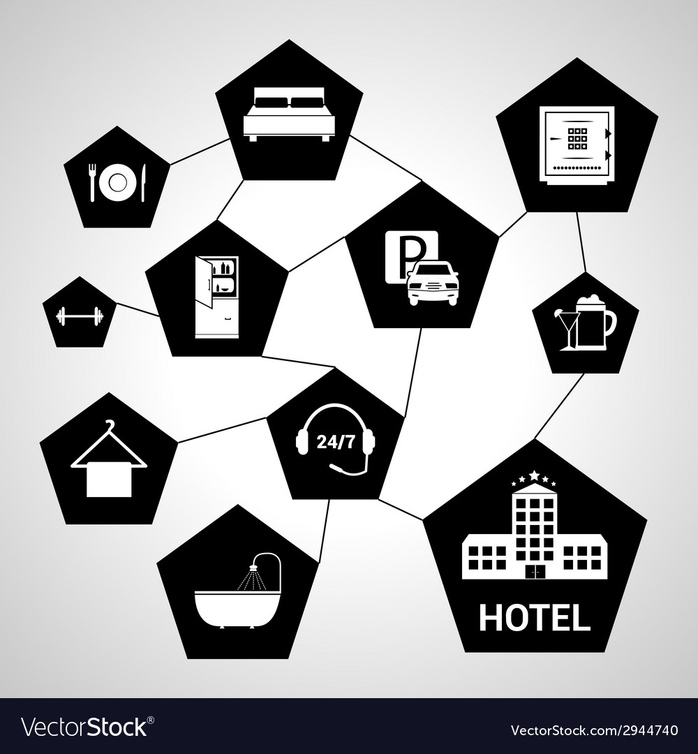 Hotel services concept vector | Price: 1 Credit (USD $1)
