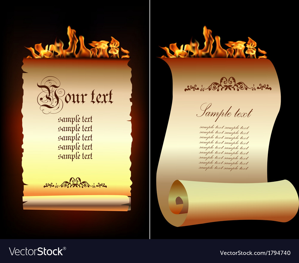Old paper scrolls vector | Price: 1 Credit (USD $1)