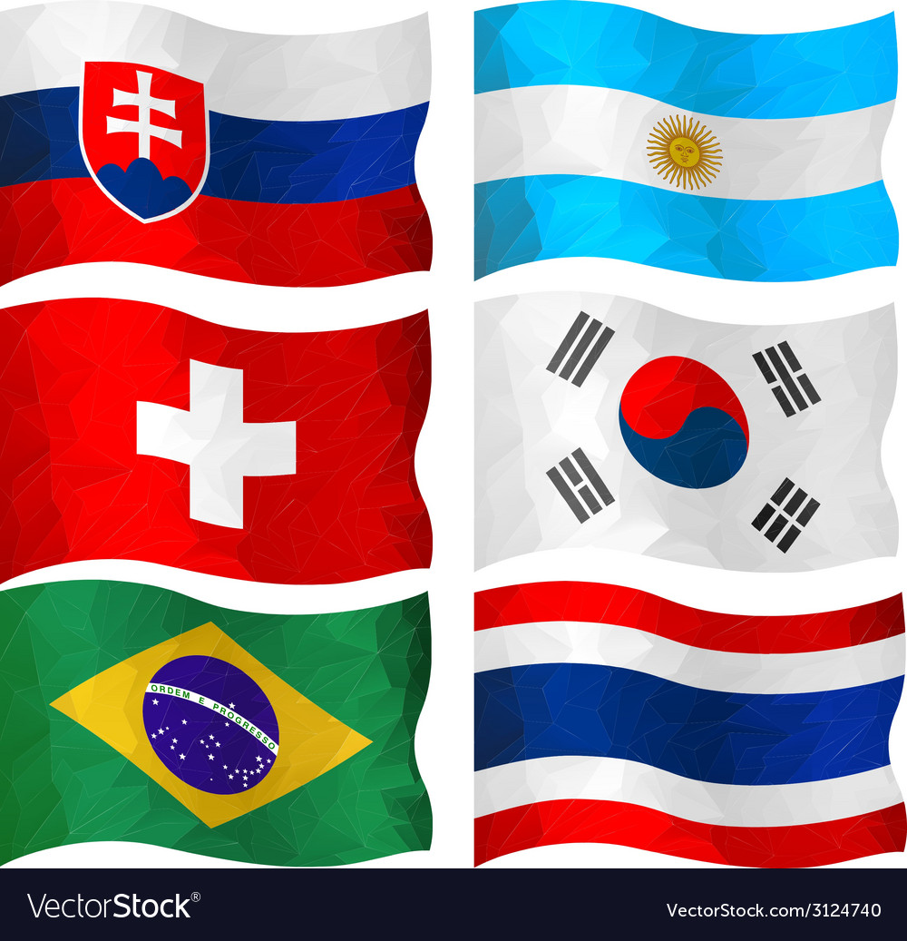 Set of flags vector | Price: 1 Credit (USD $1)