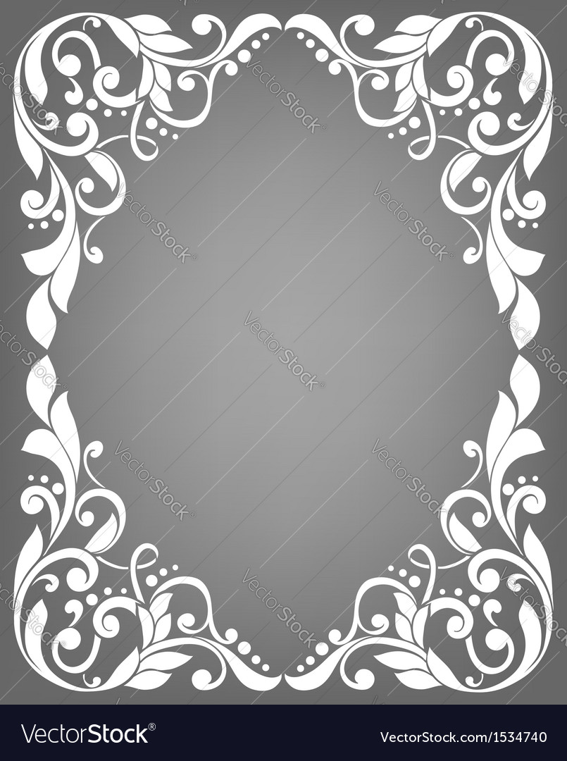 Vintage filigree frame vector | Price: 1 Credit (USD $1)