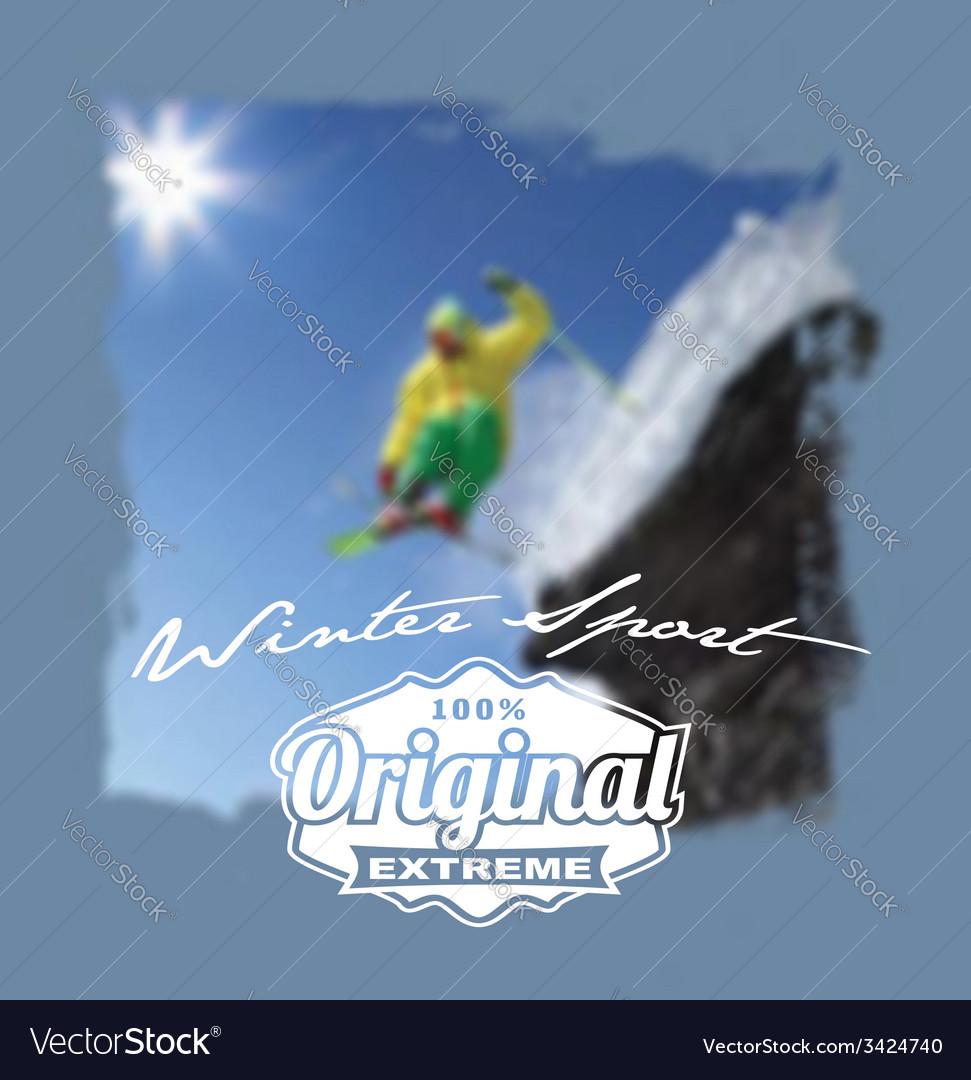 Winter sport original extreme vector | Price: 1 Credit (USD $1)