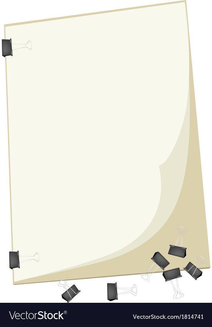 A blank clipboard with group of paper clip vector | Price: 1 Credit (USD $1)