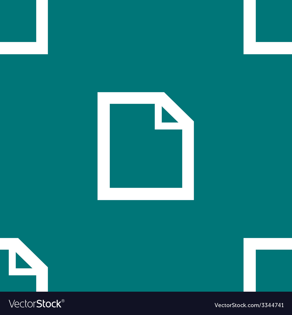 Blank paper web icon flat design seamless pattern vector | Price: 1 Credit (USD $1)
