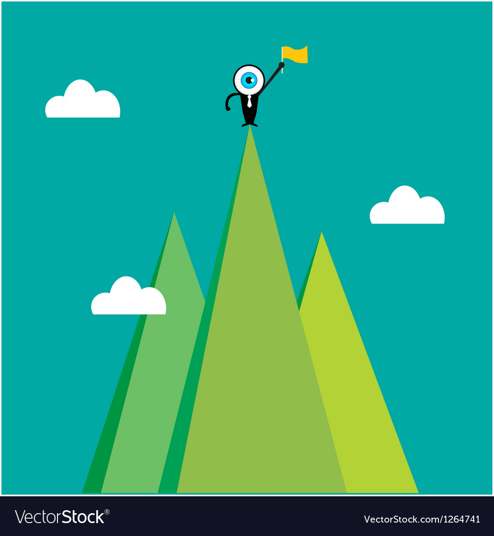 The blue eye leader on the top of mountain vector | Price: 1 Credit (USD $1)