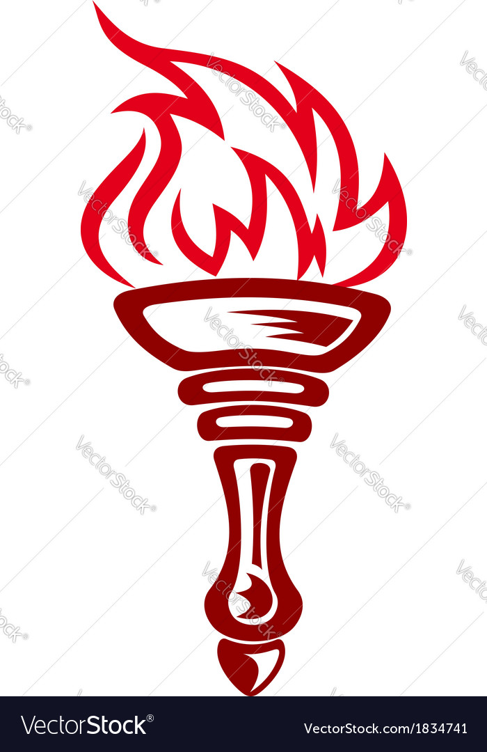 Burning torch vector | Price: 1 Credit (USD $1)