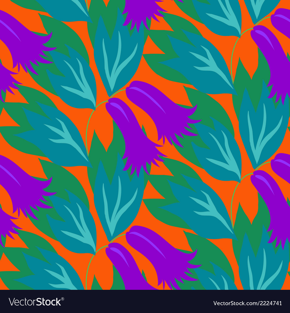 Floral seamless pattern with bell flowers vector | Price: 1 Credit (USD $1)