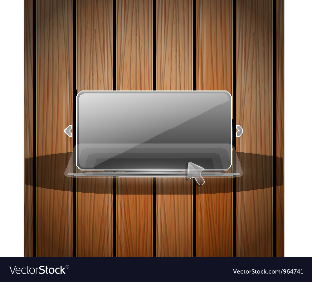 Glass and wooden wall vector | Price: 1 Credit (USD $1)