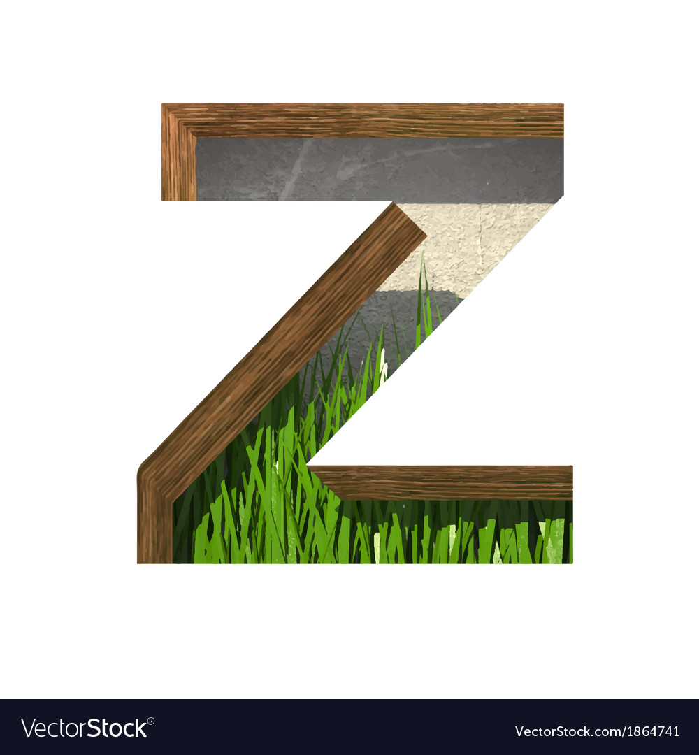 Grass cutted figure z paste to any background vector | Price: 1 Credit (USD $1)