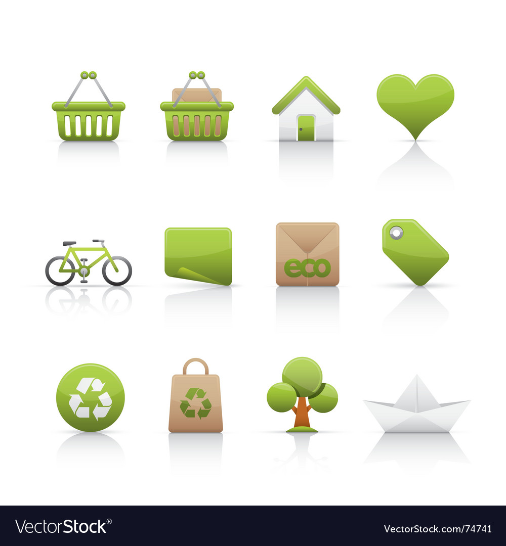 Icon set ecology vector | Price: 1 Credit (USD $1)