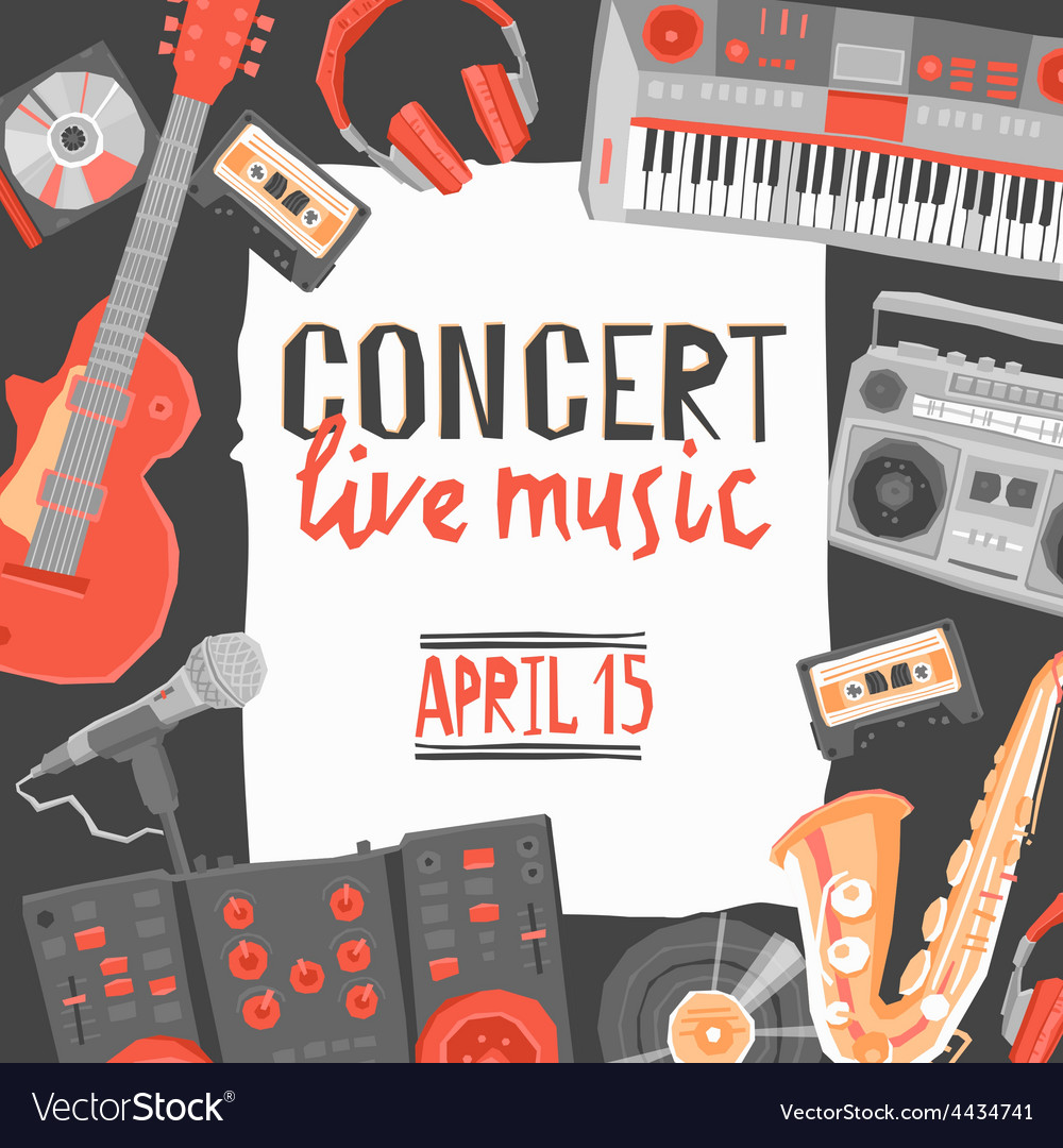 Music concert poster vector | Price: 1 Credit (USD $1)