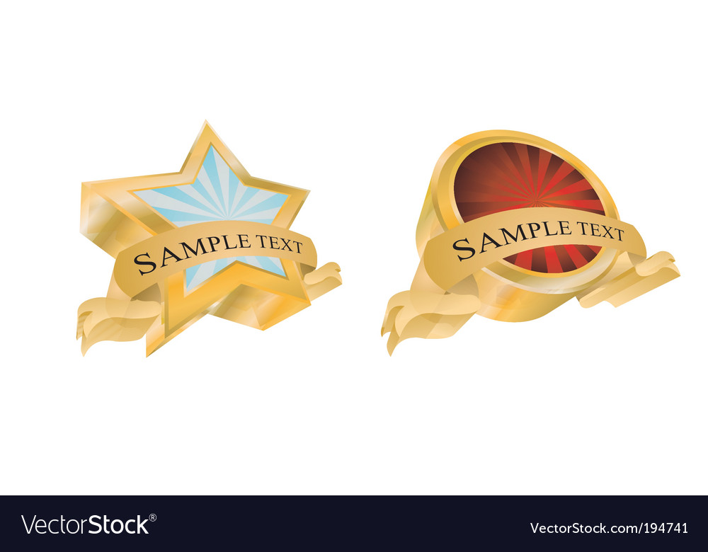 Vintage gold emblems vector | Price: 3 Credit (USD $3)